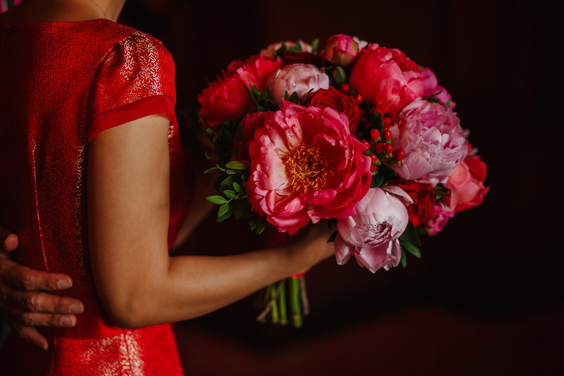 Chinese Bride Peonies Bouqet
