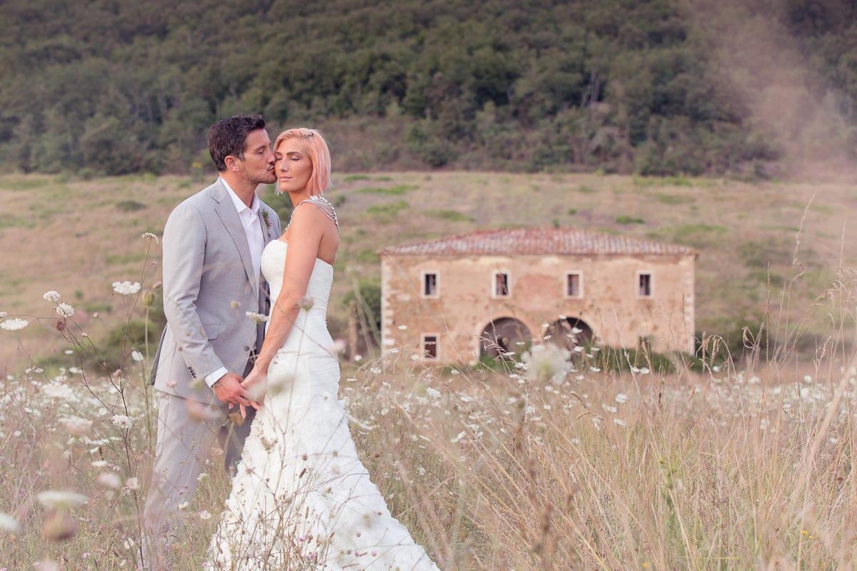 Bride and Groom Flower Meadow