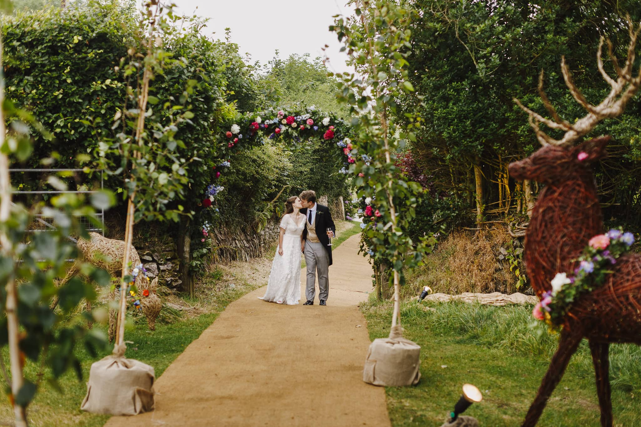 Back garden wedding in Somerset
