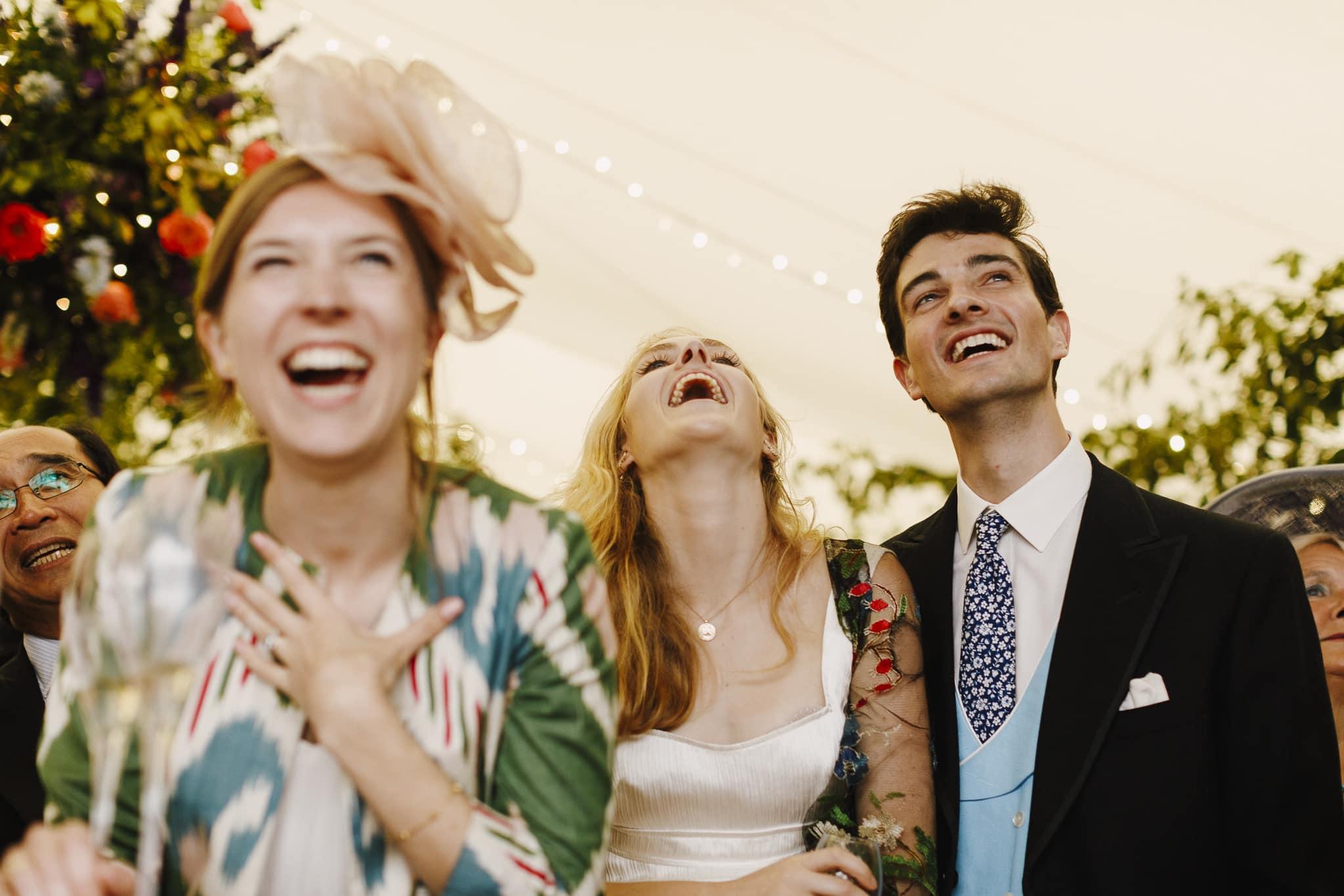 Fun marquee wedding