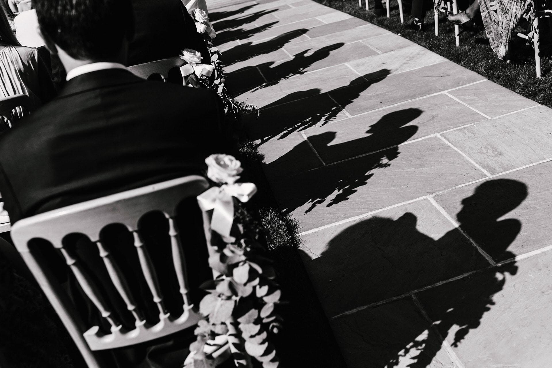 Nadine van Biljon Photography Top London Wedding Photographer Black & White Silhouette at Bury Court Barn