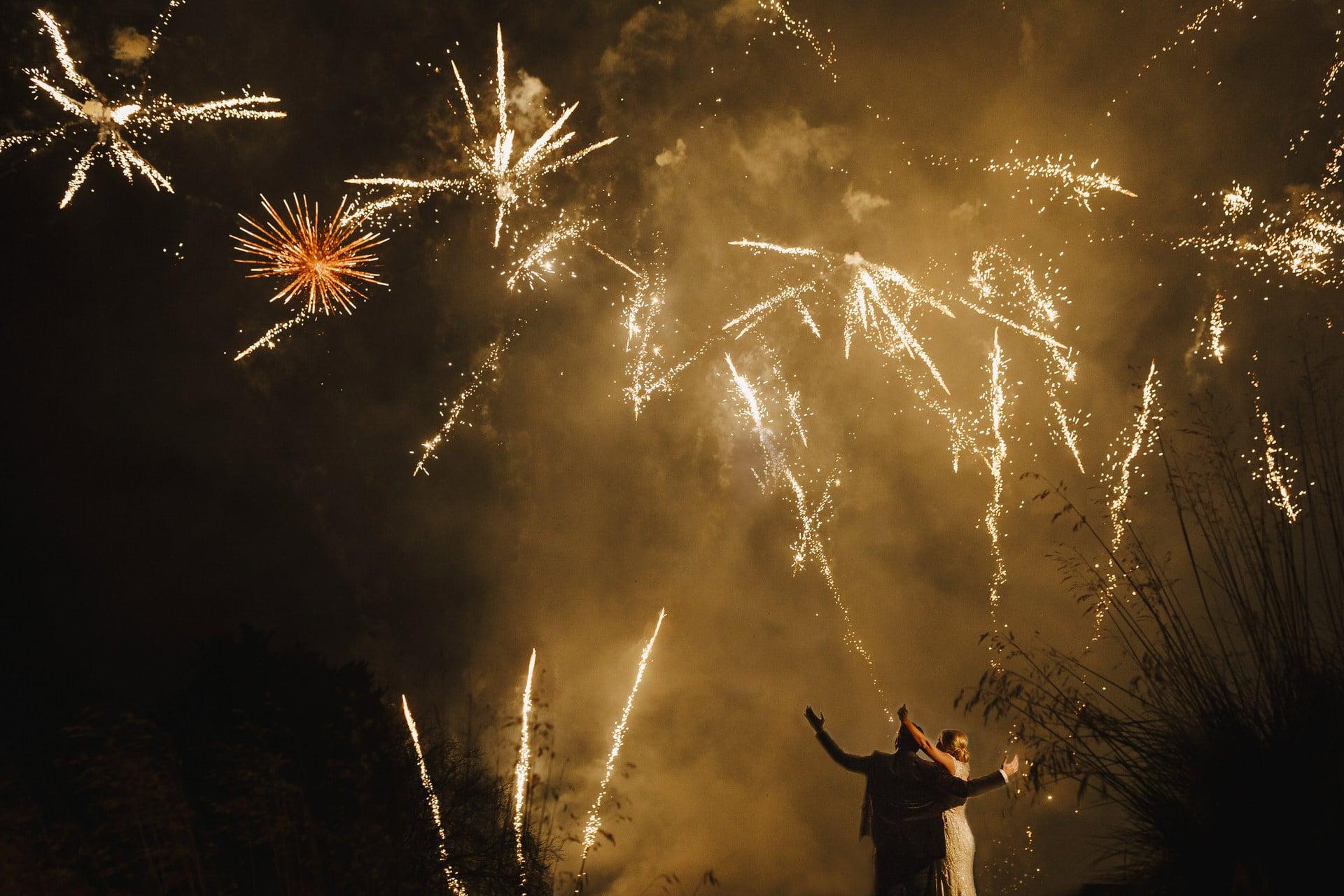 Nadine van Biljon Photography Top London Wedding Photographer Fireworks at Stoke Rochford Hall Jenny Packham Dress