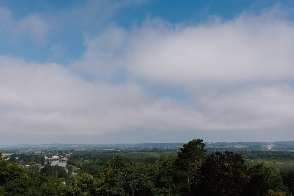 View of the Dordogne valley from Chateau Soulac