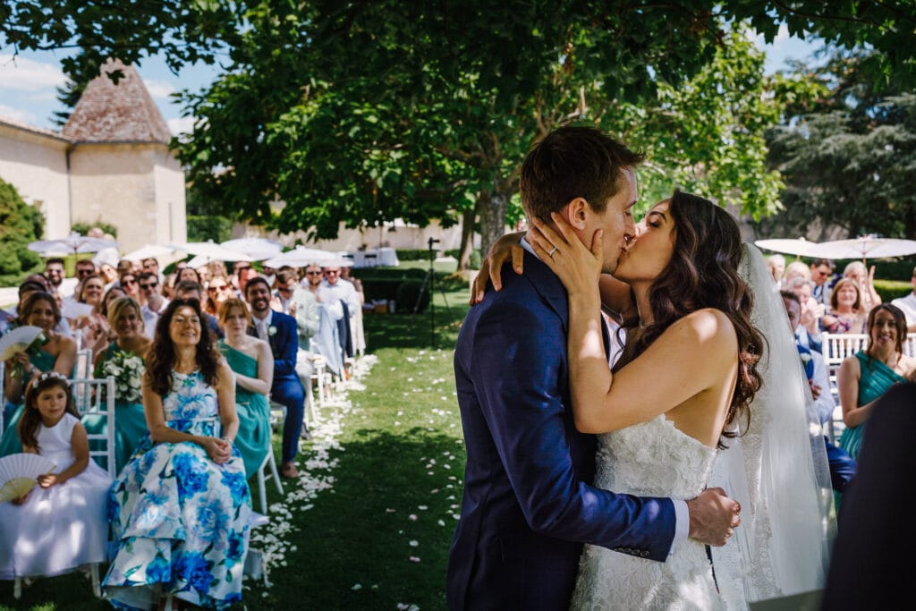 First kiss at Chateau Soulac