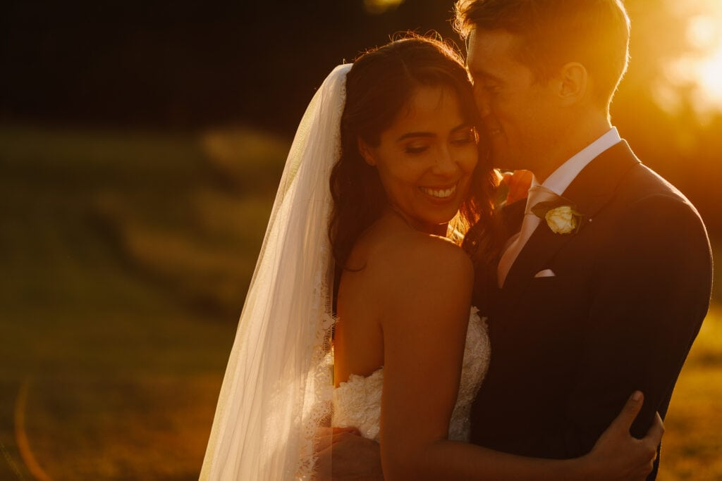 Golden hour light at Chateau Soulac