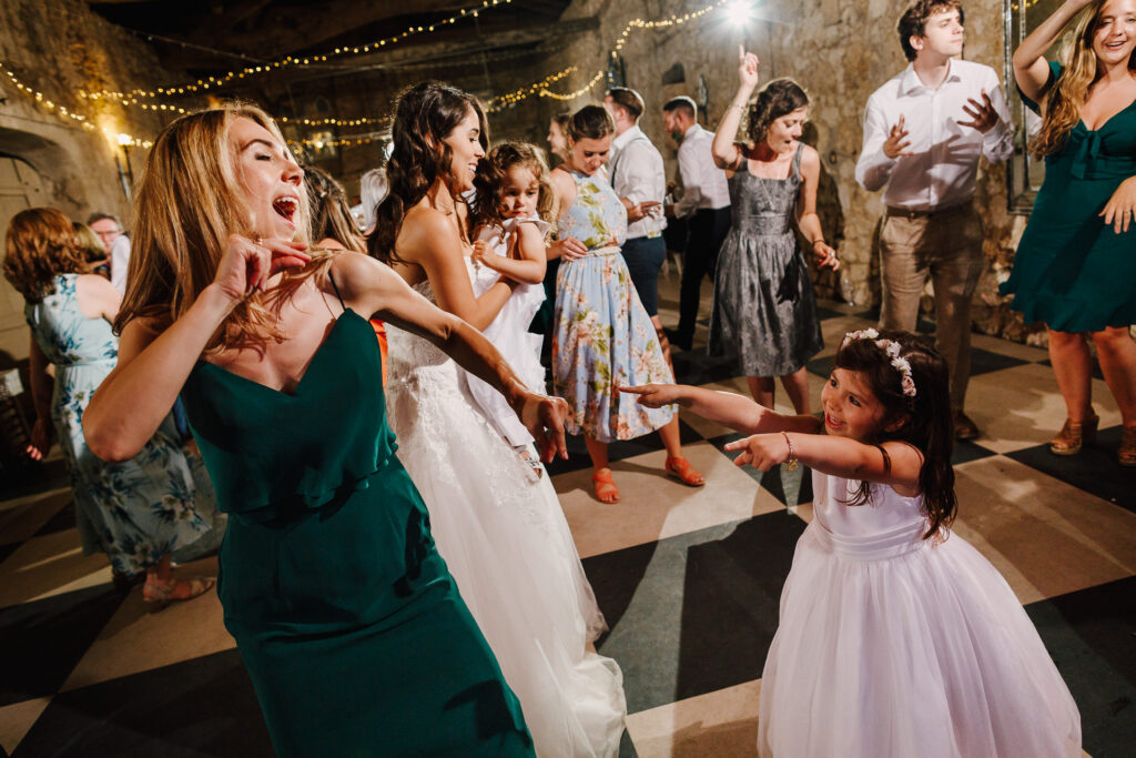 Mother and daughter dance-off at Chateau Soulac wedding